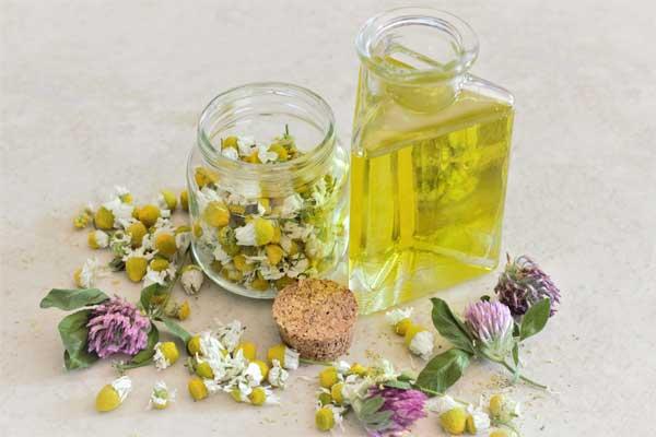 olio essenziale o tisana alla camomilla